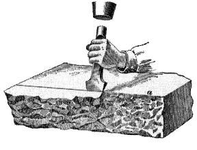 Image result for mason chiseling a stone
